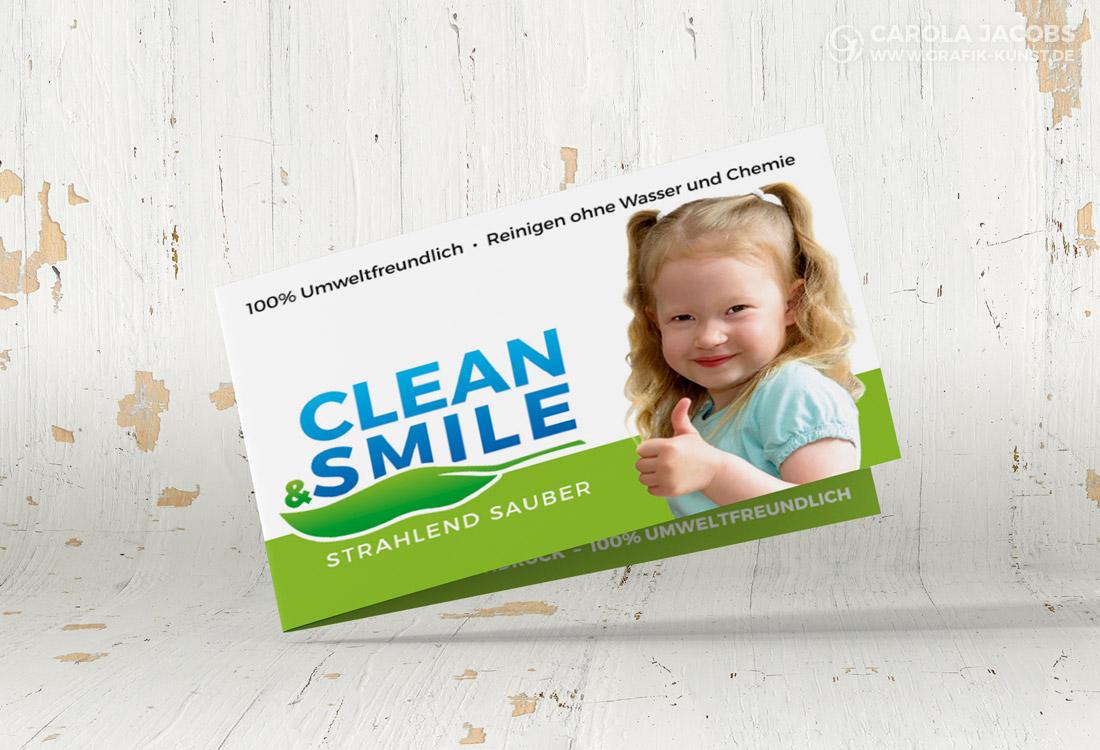 Clean & Smile – Visitenkarte