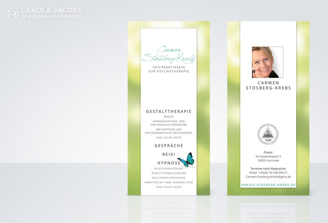 Flyer für Carmen Stosberg-Krebs