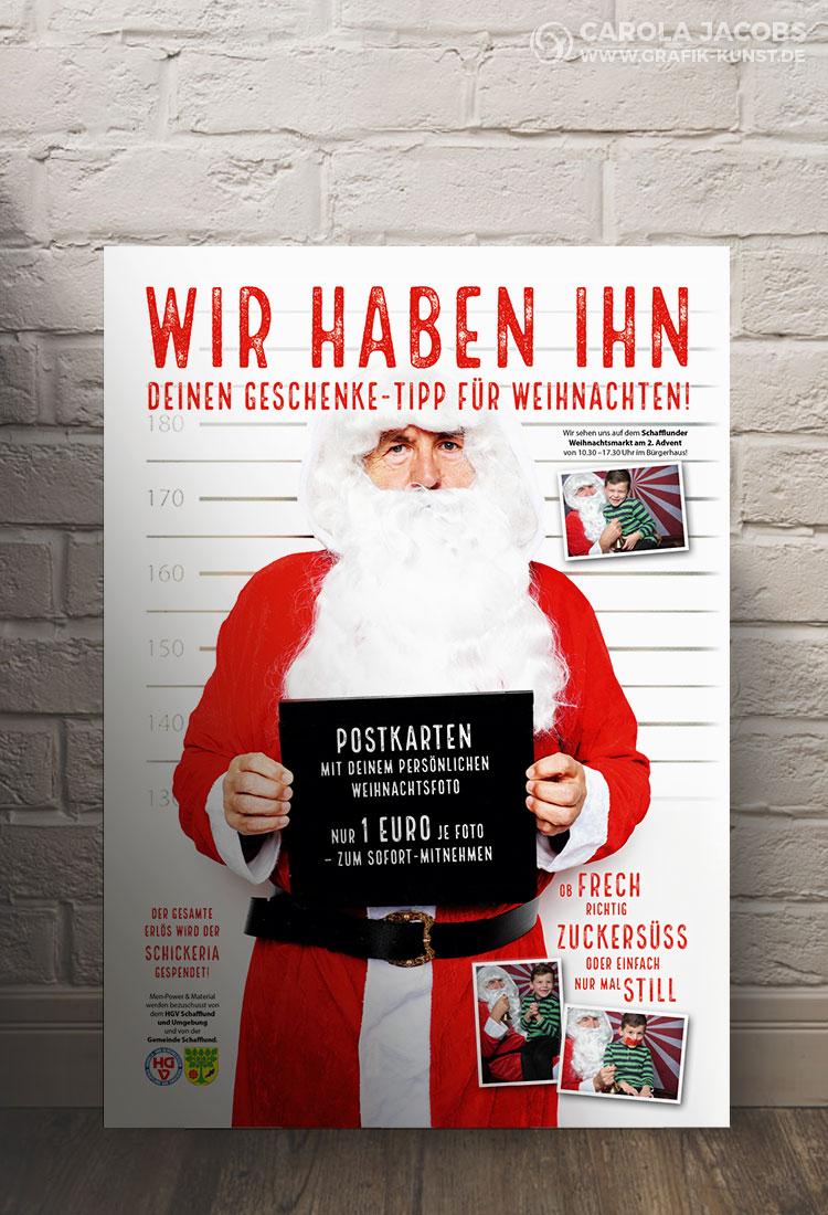 Plakat für den Weihnachtsmarkt vom HGV Schafflund und Umgebung
