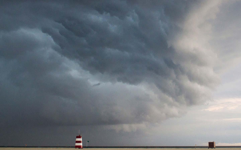 Sturmfront über Römö