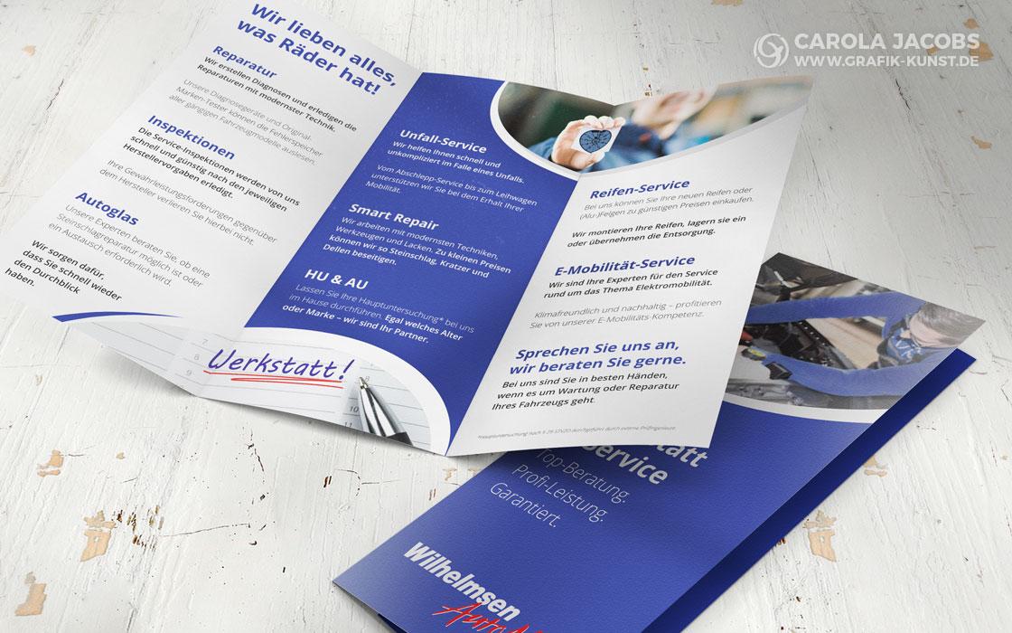 Wilhelmsen Automix - Werkstatt-Faltblatt