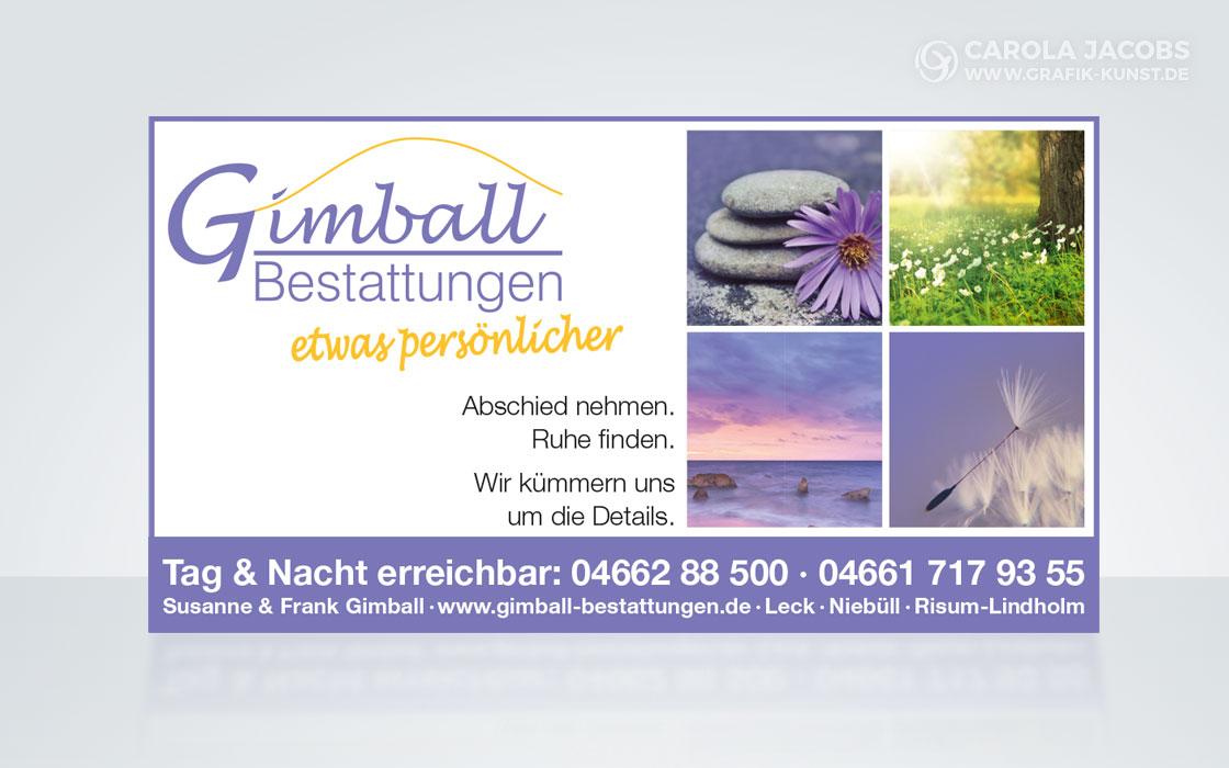 Gimball Bestattungen – Anzeige
