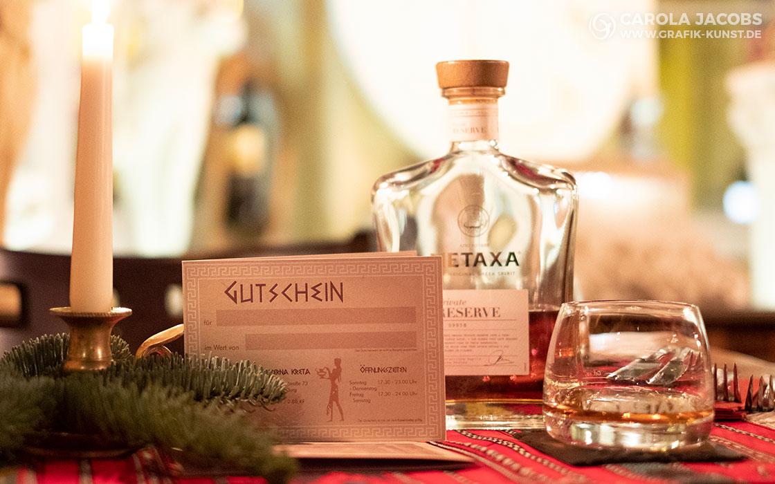 Kreta Taverna – Gutschein und Metaxa