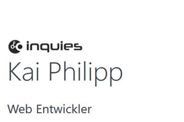 Kai Philipp – Webentwickler