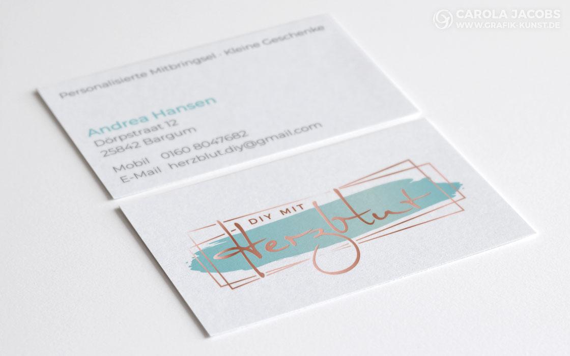 DIY mit Herzblut – Visitenkarten