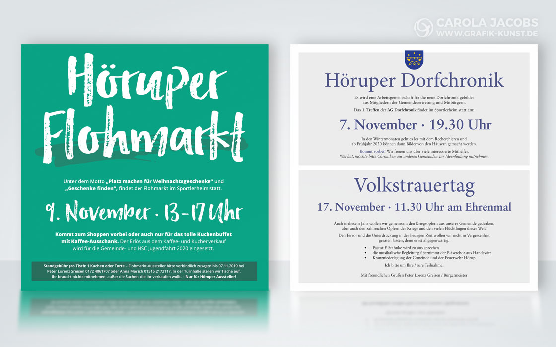 Gemeinde Hörup – Infoflyer