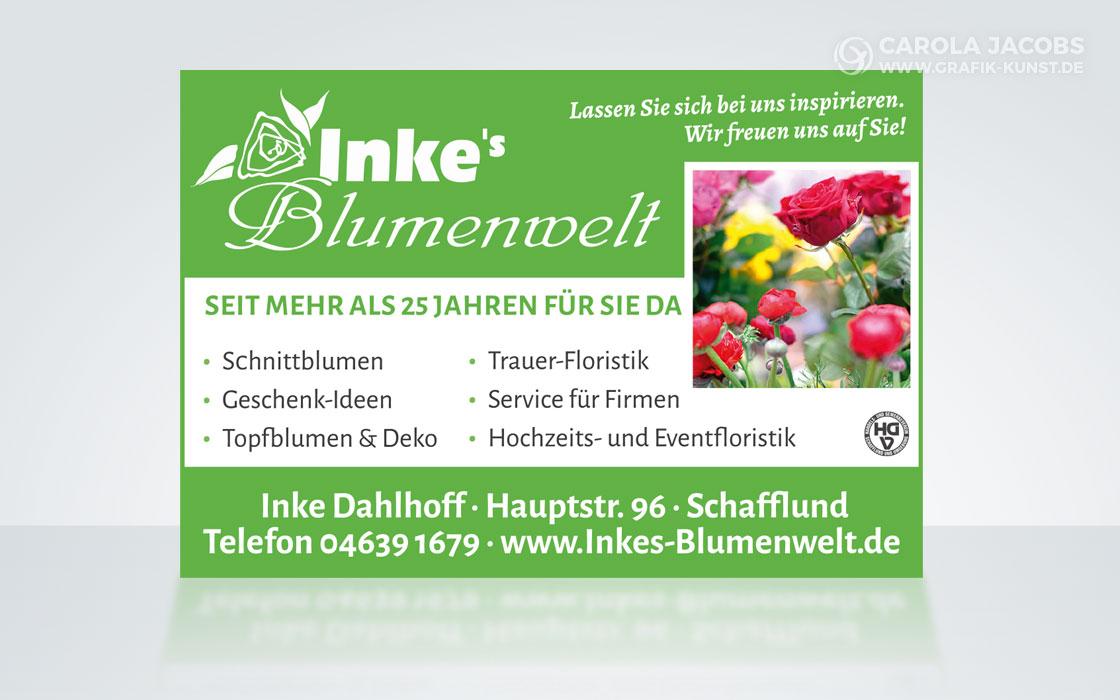 Inkes Blumenwelt – Anzeige