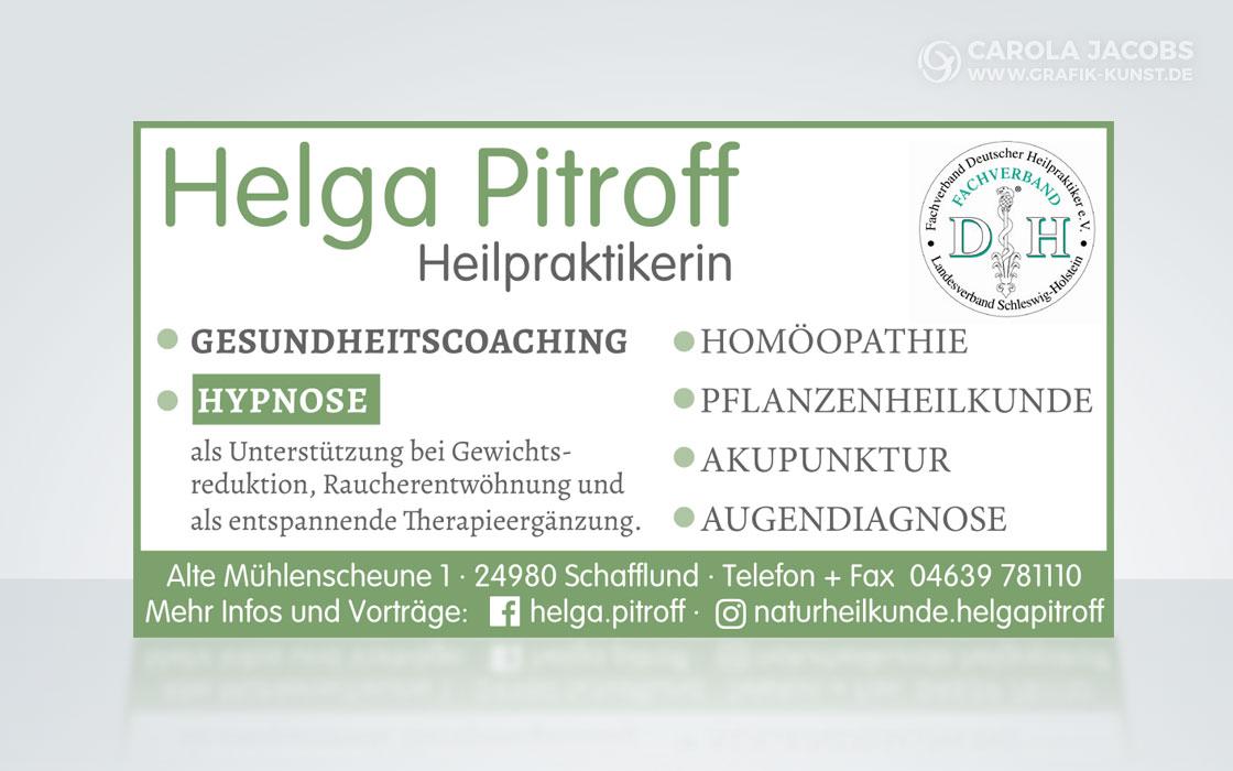 Anzeige für Helga Pitroff