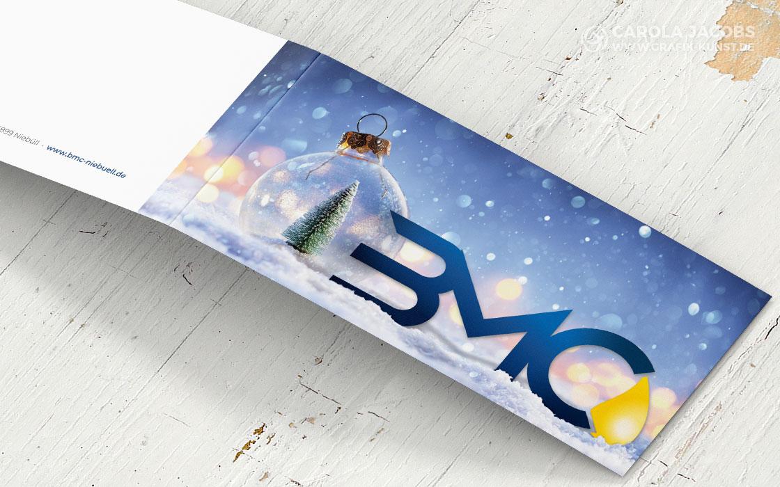 Weihnachtskarte mit neuem Logo